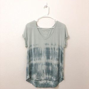 American Eagle T-Shirt Green Tie-dye Pattern M